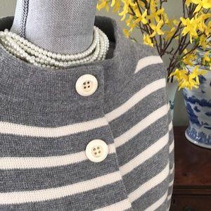 || J. Crew || Striped Sweater Coat